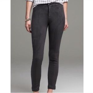 Banana Republic Ankle Zip Pants Gray Limited